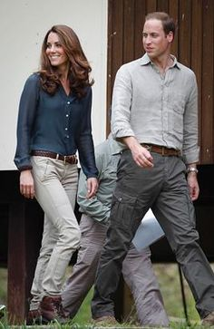 Prince William and his wife Kate, the Duke and Duchess of Cambridge arrive at Danum Valley Research Center in Danum Valley, Sabab, Malaysia, Saturday, Sept. 15, 2012. (Vincent Thian/ Pool/AP Photo)