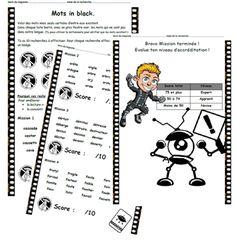 Mots in black, lecture, Cp, Ce1, distinguer mots/speudo-mots