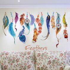 Classic Creative Dream Catcher Feather Wall Sticker Art Decal Mural - $4.49. https://www.bellechic.com/deals/9ed574de4df6/classic-creative-dream-catcher-feather-wall-sticker-art-decal-mural