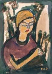Женщина с цветами. Фридрих Карл Горячих Источников И Красивых Парков