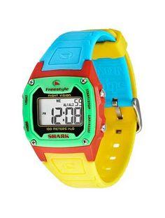 shark watch: yellow, blue, green, red