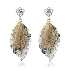 Chic Jewellery Earrings, Silver/Golden/White