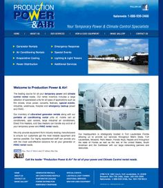 temporary power and climate control rental needs website by eva gustafsson http://www.productionpower.net