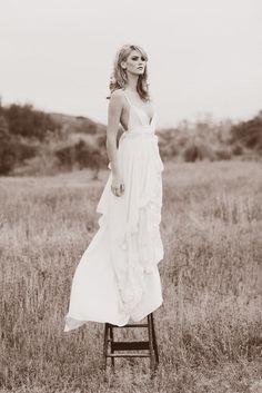 Morgan Boszilkov Natural Bridals dress. Made from all sustainable fabrics. Love.