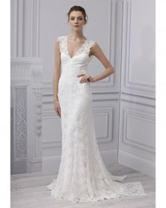 """See the """"Monique Lhuillier"""" in our Lace Wedding Dresses, Spring 2013 Bridal Fashion Week gallery"""