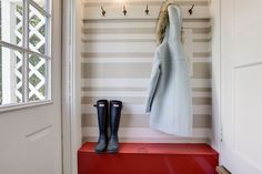 Small mud room/coat area by the back door