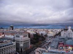 La vista desde la Azotea de Círculo de Bellas Artes. Madrid, Spain.