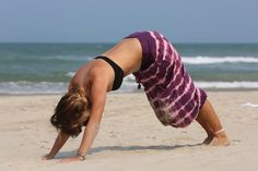 Beach Yoga with Champa Pants from Champa Clothing. Life doesn't get any better! Boho Outfits, Stylish Outfits, Beach Yoga, Tie Dye Skirt, Cover Up, Poses, Clothing, Life, Fashion