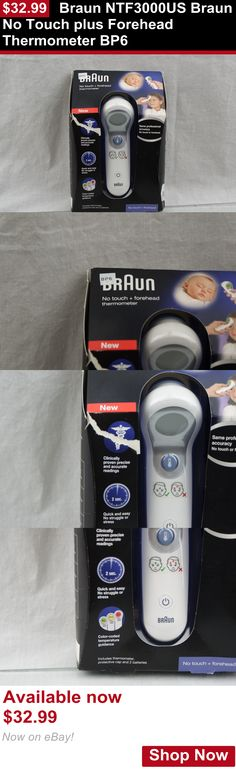 Baby Thermometers: Braun Ntf3000us Braun No Touch Plus Forehead Thermometer Bp6 BUY IT NOW ONLY: $32.99