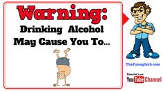 Warning labels that should be placed on Alcohol bottles. Best jokes about alcohol, drinking and getting drunk. Good Jokes, Funny Jokes, Alcohol Jokes, Really Funny Joke, Alcohol Bottles, Getting Drunk, Brain Teasers, Pranks, Quizzes