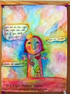 'My Fairy Art Mother'  - by Kylie Pepyat-Fowler AKA: Blissful Pumpkin http://blissfulpumpkin.blogspot.com.au/