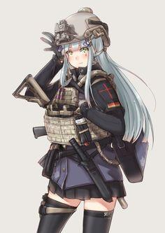 "Аниме конфа ""Чулочки"" Anime Girl Hot, Kawaii Anime Girl, Anime Art Girl, Anime Military, Military Girl, Guerra Anime, Anime Warrior Girl, Gunslinger Girl, Military Drawings"