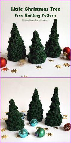 Knit Christmas Tree Free Patterns - Little Christmas Tree Free Knitting Pattern