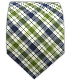 Shirt Grid Check - Clover/Navy (Cotton)