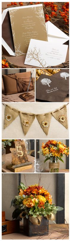 If you are planning your wedding during the fall months into early winter, you'll love this theme. We've taken our Boughs and Branches invitation and created an entire look around it. We've tossed in a few simple DIY ideas to finish the naturally beautiful theme.  1. Our Boughs and Branches Invitation is perfect for autumn weddings when the air is crisp  ...