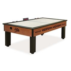 Western Michigan Broncos Air Hockey Sports Table