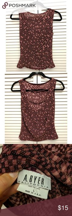 Club Shirt A great shirt for going out on the town. Low scoop in back. Great condition. B. Ayer Tops Blouses