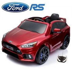 Metallic Red Ford Focus RS Kids Official Ride On Electric Car At Kids Electric Cars we love the Lamborghinis, Ferraris and Bentleys, but the real day to day heroes on the roads are the hot hatches Focus Rs, Ford Focus, Electric Cars, Roads, Lincoln, Metallic, Hot, Road Routes, Electric Vehicle