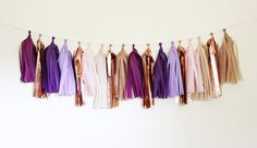 Tissue Tassel Garland18 tassels Posies by TheFlairExchange on Etsy, $32.00