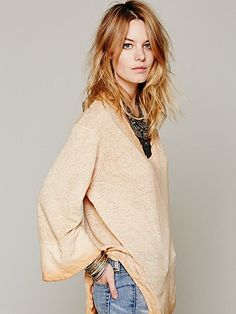 Free People We The Free Shibori Tee
