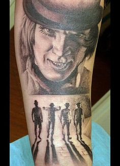 .Tattoo of Alex and his Droogs