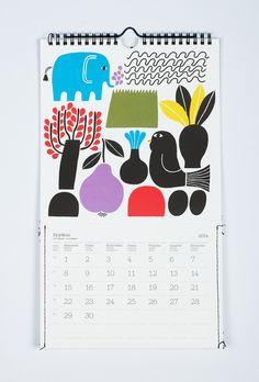 Illustration for calendar / Marimekko / 2012