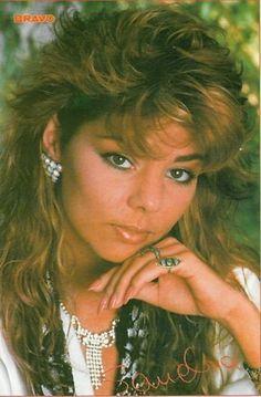 1985: Sandra - Autogrammkarte
