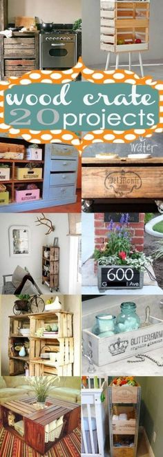 20 Wood Crate DIY Projects