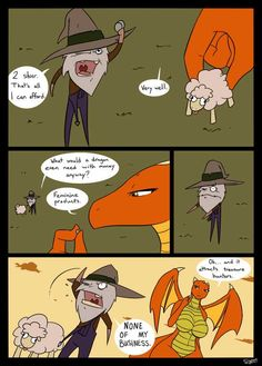 Dragon's Burn Strikes Again by Slypon Dragon Comic, Dragon Art, Funny Images, Best Funny Pictures, Dragon Memes, Anime Monsters, Female Dragon, Furry Comic, Cute Dragons