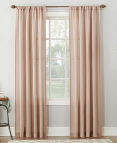 Amalfi by Rangoni Lichtenberg No. 918 54 X 63 Linen Blend Textured Sheer Rod Pocket Curtain Panel Double Rod Curtains, Sheer Curtain Panels, Rod Pocket Curtains, Blush Curtains, Drapes Curtains, Bedroom Green, Bedroom Decor, Master Bedroom, Bedroom Ideas