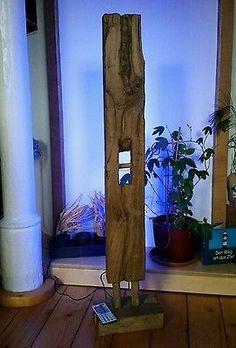 Details Zu Stehlampe Leuchte Alt Eichenbalken LED Lampe Design Holzbalken Wohnung