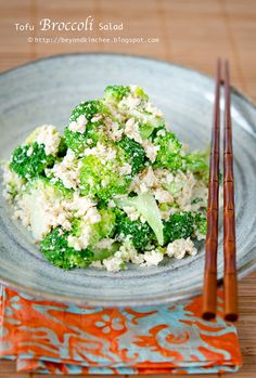 Tofu Broccoli Salad; simple, healthy, and yes, it's delicious!