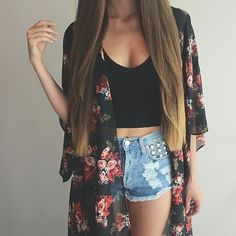 Love this cute summer outfit . ♡ Follow me ! I love making new Pinterest buddies . I have really amazing boards. †