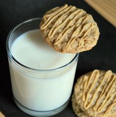 Peanut Butter Oatmeal Cookies | Baking Bites. Would be delish with butterscotch chips. Only makes about 2 dozen.  More milk is needed for the glaze