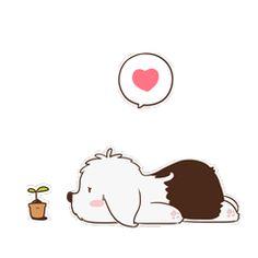 16 Super cute dog emoji gifs brings you joy Cute Love Pictures, Cute Love Gif, Animated Icons, Animated Gif, Cartoon Pics, Cute Cartoon, Chien Bobtail, Winnie The Pooh Gif, Dog Emoji