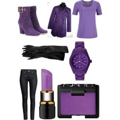 Fnaf purple guy inspired outfit by kinseyalexander04 on Polyvore featuring polyvore, fashion, style, Dash, H&M, Gucci, Toy Watch, Kosta Boda and NARS Cosmetics