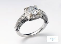 Gents, take note - THIS is a statement piece! Who wouldn't love this beauty on their finger? #Diamonds #EngagementRings #BrittonDiamonds http://brittondiamonds.com/
