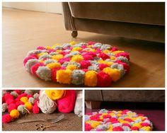 Pom Pom Teppich / carpet DIY