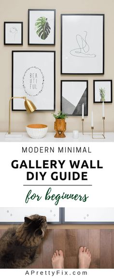 Learn how to create a modern minimalist gallery wall by understanding the fundamentals of colour, layout and applying a very simple wall design. This step-by-step guide will walk you through an easy method of achieving a Pinterest-worthy look along with a full source list. This is the perfect starting point for beginners.