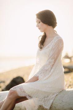 Lace Bridal Robe Kimono (#Valentina) - Dream Dresses by P.M.N  - 5