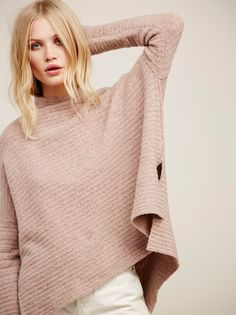Cream Arctic Fox Sweater at Free People Clothing Boutique Fox Sweater, Pink Sweater, Arctic Fox, Ribbed Turtleneck, Mock Neck, Pullover Sweaters, Boho Fashion, Free People, Bell Sleeve Top