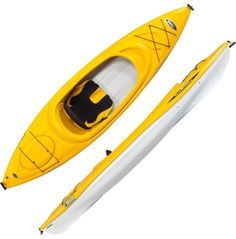 Seek out your inner adventurer with the Pelican® Trailblazer 100 Kayak. With a hull stable enough to make any beginner feel comfortable, this sit-in kayak is well equipped to say the least. You'll never sacrifice comfort because the Trailblazer 100 has adjustable foot pegs, a seat pad, and a padded backrest. Stowing extra gear has never been easier - this Pelican® also has a storage hatch with a bungee so you're always well prepared.