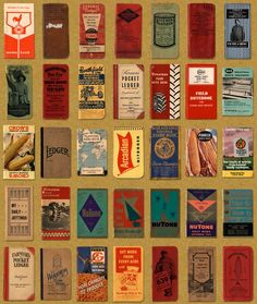 Vintage field note books