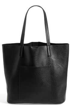 Street Level Faux Leather Pocket Tote ($50.00)