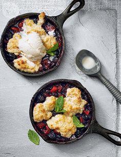 Dessert Recipe: Mixed Berry Cobbler {PHOTO: Jeff Coulson}