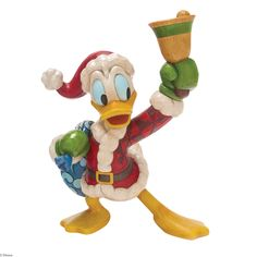 4046024 Ring in the Holidays (Donald Duck)- Here to help you Ring in the Holiday is this large Donal Duck figurine #jimshore #disney #collectable