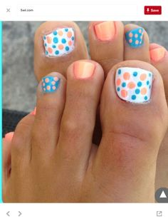 Are you looking for some funky toe nail designs? Want to gain some ideas on how to do super cool toe nail art yourself?check these 15 most awesome toe nails Pretty Toe Nails, Fancy Nails, Diy Nails, Cute Nails, Pretty Toes, Simple Toe Nails, Cute Short Nails, Diy Nail Designs, Pretty Nail Designs