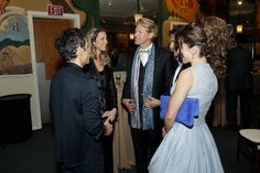 Talking to #BenStiller during the pre-cocktail honoring @melbrooks @20ThFoxCC with @luanapiovani @eugenioderbez @alexrosaldo