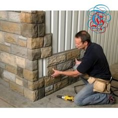 Easy to pop on the side of a house for an exterior change. Like an ugly garage……. -Read More – Decor Hacks : Faux stone. Easy to pop on the side of a house for an exterior change. Like an ugly garage……. -Read More – Home Renovation, Home Remodeling, Casas Containers, Pole Barn Homes, Pole Barns, Pole Barn Garage, Pole Barn House Plans, Barn Plans, Garage Plans