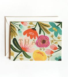 Gold Floral Thank You Cards from Rifle Paper Co. [the perfect thank you cards!]